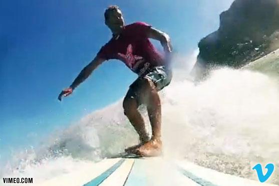 Ant Scholte surfing in Muizenberg