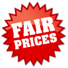 we charge fair prices