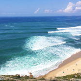 Perfect right point at Ribeira DIlhas in Ericeira, Portugal