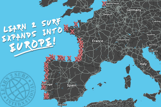 Learn 2 Surf in Europe
